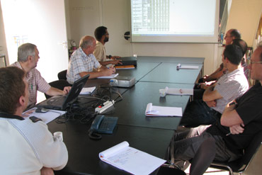 Kick off meeting of a project in the research department